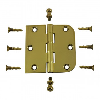<PRE>Bright Solid Brass Cabinet Hinge 3inch x 3&quot; Ball Tip </PRE>zoom3