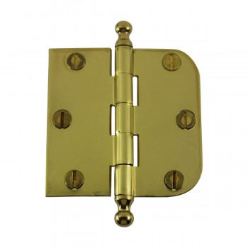 <PRE>Bright Solid Brass Cabinet Hinge 3inch x 3&quot; Ball Tip </PRE>zoom4