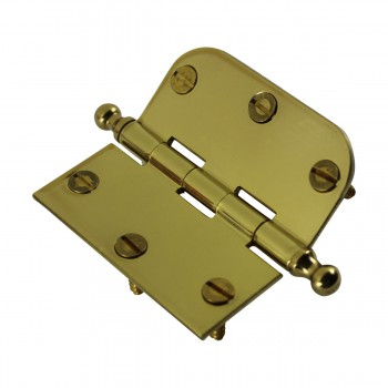 <PRE>Bright Solid Brass Cabinet Hinge 3inch x 3&quot; Ball Tip </PRE>zoom8