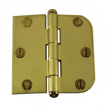 <PRE>Bright Solid Brass Cabinet Hinge 3inch x 3&quot; Button Tip </PRE>zoom4