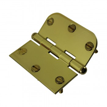 <PRE>Bright Solid Brass Cabinet Hinge 3inch x 3&quot; Button Tip </PRE>zoom8