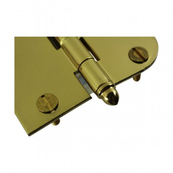 "<PRE>Bright Solid Brass Cabinet Hinge 3inch x 3"" Helmet Tip </PRE>zoom5"