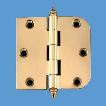 "<PRE>Bright Solid Brass Cabinet Hinge 3inch x 3"" Decor Tip </PRE>zoom2"