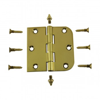 "<PRE>Bright Solid Brass Cabinet Hinge 3inch x 3"" Decor Tip </PRE>zoom3"