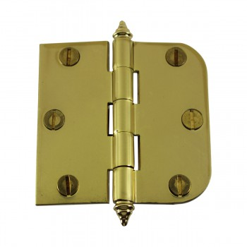 "<PRE>Bright Solid Brass Cabinet Hinge 3inch x 3"" Decor Tip </PRE>zoom4"