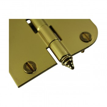 "<PRE>Bright Solid Brass Cabinet Hinge 3inch x 3"" Decor Tip </PRE>zoom5"
