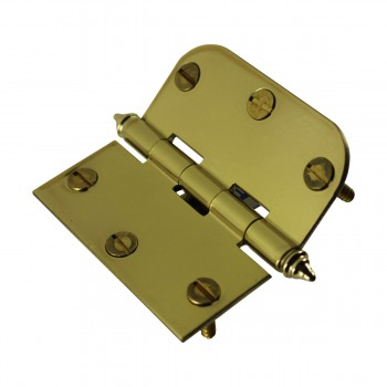 "<PRE>Bright Solid Brass Cabinet Hinge 3inch x 3"" Decor Tip </PRE>zoom7"