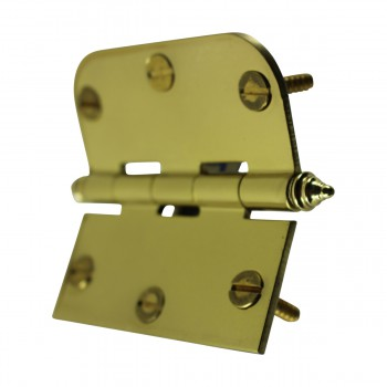 "<PRE>Bright Solid Brass Cabinet Hinge 3inch x 3"" Decor Tip </PRE>zoom8"