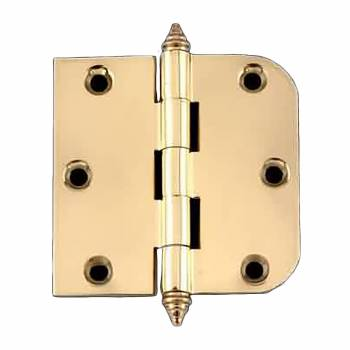"<PRE>Bright Solid Brass Cabinet Hinge 3inch x 3"" Decor Tip </PRE>zoom1"