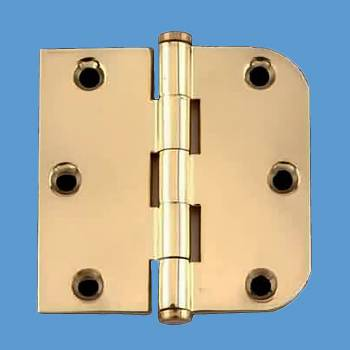 <PRE>Bright Solid Brass Cabinet Hinge 3&quot; x 3&quot; Coin Tip </PRE>