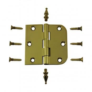"<PRE>Bright Solid Brass Cabinet Hinge 3inch x 3"" Spire Tip </PRE>zoom3"