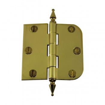"<PRE>Bright Solid Brass Cabinet Hinge 3inch x 3"" Spire Tip </PRE>zoom4"