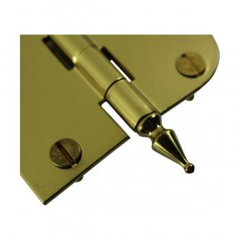 "<PRE>Bright Solid Brass Cabinet Hinge 3inch x 3"" Spire Tip </PRE>zoom5"