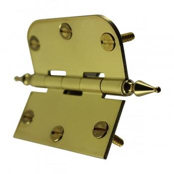 "<PRE>Bright Solid Brass Cabinet Hinge 3inch x 3"" Spire Tip </PRE>zoom8"