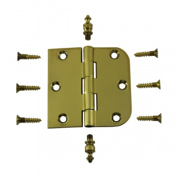 <PRE>Bright Solid Brass Cabinet Hinge 3inch x 3&quot; Urn Tip </PRE>zoom3