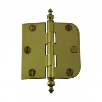 <PRE>Bright Solid Brass Cabinet Hinge 3inch x 3&quot; Urn Tip </PRE>zoom4