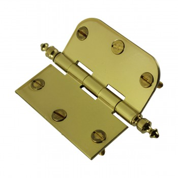 <PRE>Bright Solid Brass Cabinet Hinge 3inch x 3&quot; Urn Tip </PRE>zoom7