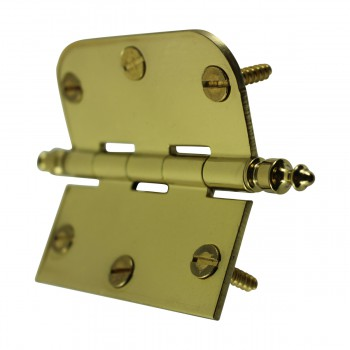 <PRE>Bright Solid Brass Cabinet Hinge 3inch x 3&quot; Urn Tip </PRE>zoom8