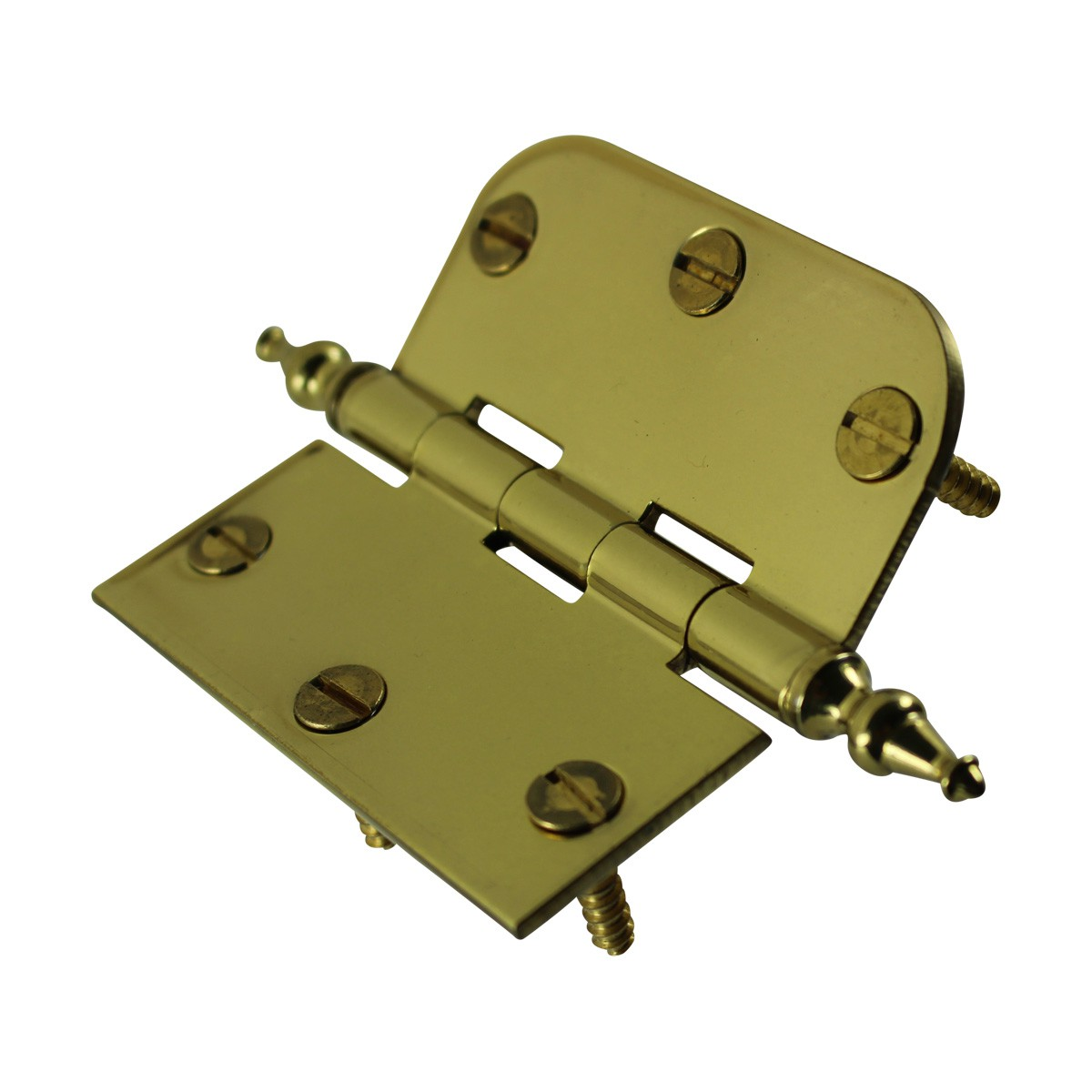 Bright Solid Brass Cabinet Hinge 3 x 3 Temple Tip Door Hinges Door Hinge Solid Brass Hinge