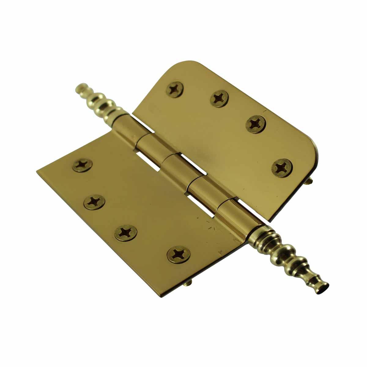 Bright Solid Brass Door Hinge 4 Steeple Tip Door Hinges Door Hinge