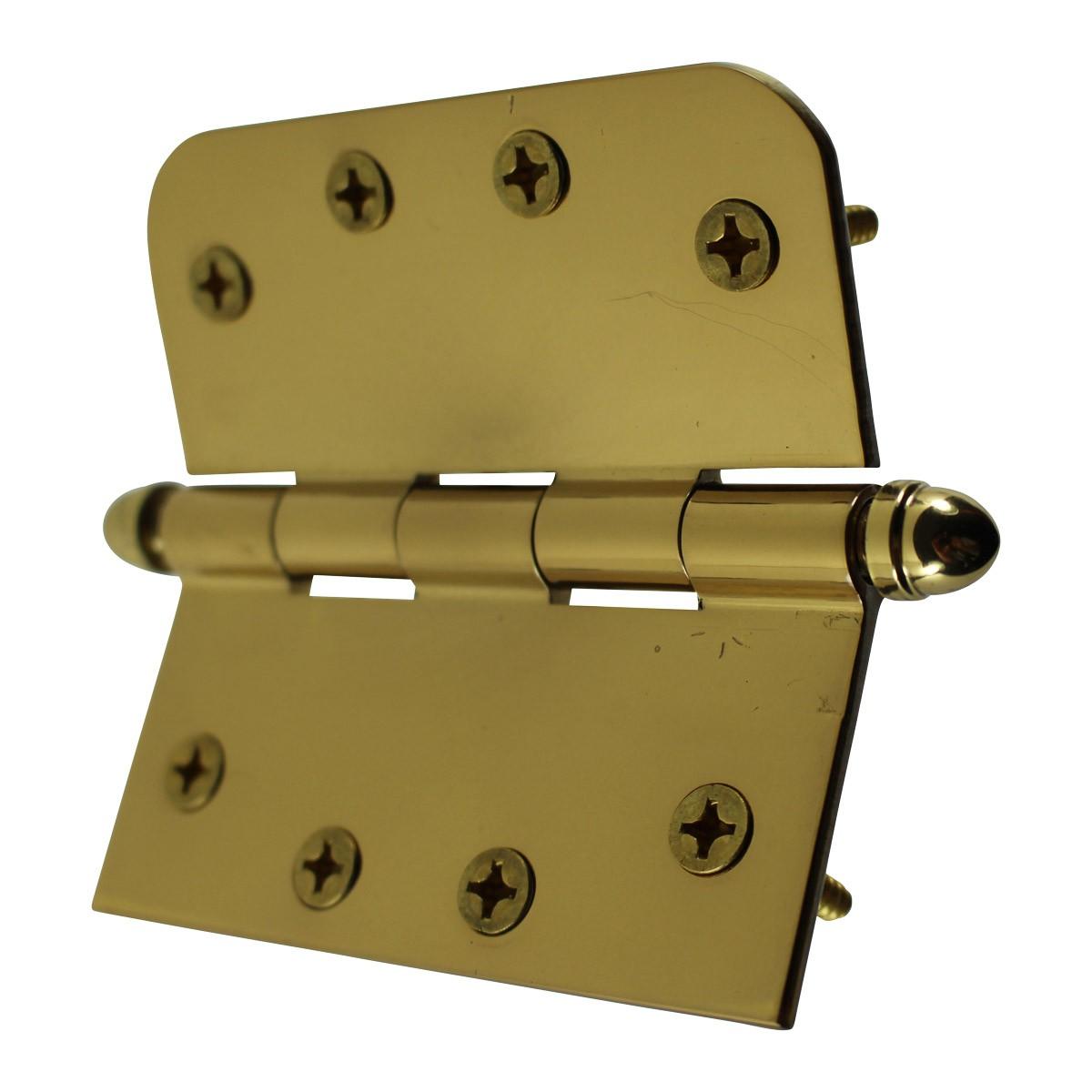 Bright Solid Brass Door Hinge 4 Helmet Tip Door Hinges Door Hinge