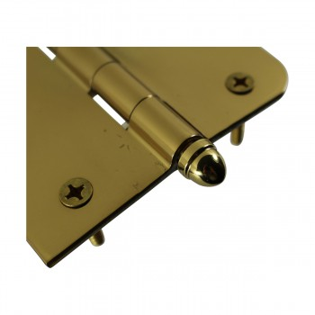 <PRE>Bright Solid Brass Door Hinge 4inch Helmet Tip </PRE>zoom6