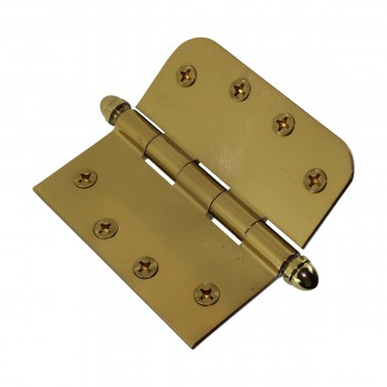 <PRE>Bright Solid Brass Door Hinge 4inch Helmet Tip </PRE>zoom8