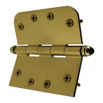 <PRE>Bright Solid Brass Door Hinge 4inch Helmet Tip </PRE>zoom9