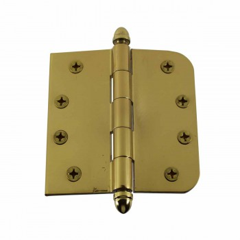 <PRE>Bright Solid Brass Door Hinge 4inch Helmet Tip </PRE>zoom1