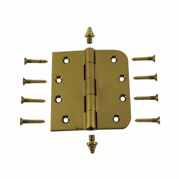 <PRE>Bright Solid Brass Door Hinge 4inch Decor Tip </PRE>zoom3