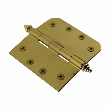 <PRE>Bright Solid Brass Door Hinge 4inch Decor Tip </PRE>zoom4