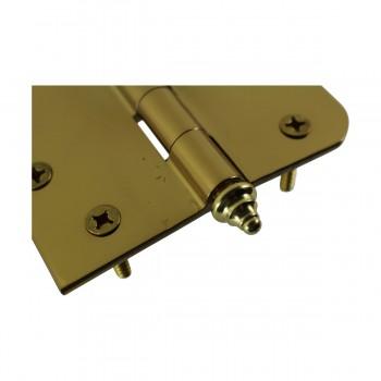 <PRE>Bright Solid Brass Door Hinge 4inch Decor Tip </PRE>zoom6