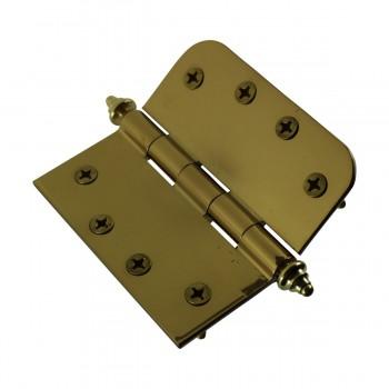 <PRE>Bright Solid Brass Door Hinge 4inch Decor Tip </PRE>zoom7