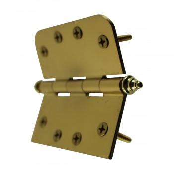 <PRE>Bright Solid Brass Door Hinge 4inch Decor Tip </PRE>zoom8