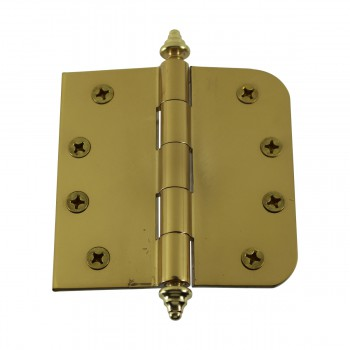 <PRE>Bright Solid Brass Door Hinge 4inch Decor Tip </PRE>zoom9