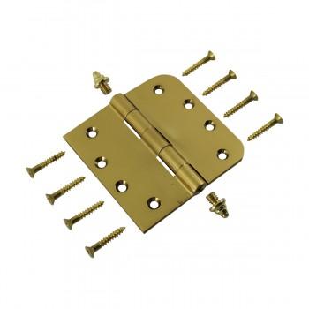 <PRE>Bright Solid Brass Door Hinge 4inch Decor Tip </PRE>zoom10