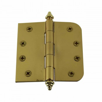 <PRE>Bright Solid Brass Door Hinge 4inch Decor Tip </PRE>zoom1