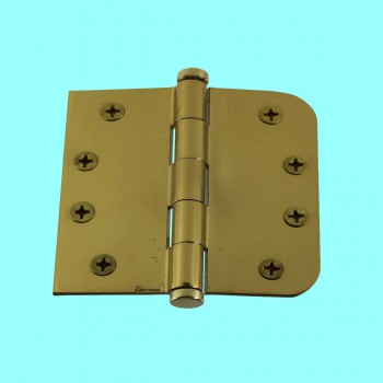 <PRE>Bright Solid Brass Door Hinge 4inch Coin Tip </PRE>zoom2