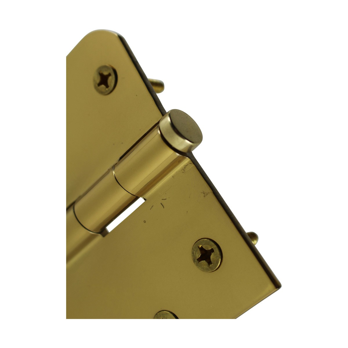 Bright Solid Brass Door Hinge 4 Coin Tip Door Hinges Door Hinge