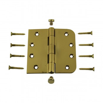 <PRE>Bright Solid Brass Door Hinge 4inch Coin Tip </PRE>zoom3