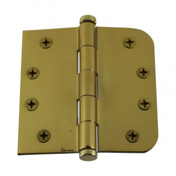 <PRE>Bright Solid Brass Door Hinge 4inch Coin Tip </PRE>zoom5