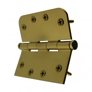 <PRE>Bright Solid Brass Door Hinge 4inch Coin Tip </PRE>zoom10