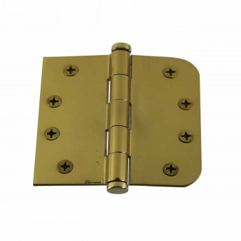 <PRE>Bright Solid Brass Door Hinge 4inch Coin Tip </PRE>zoom1