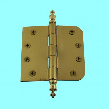 <PRE>Bright Solid Brass Door Hinge 4inch Urn Tip </PRE>zoom2