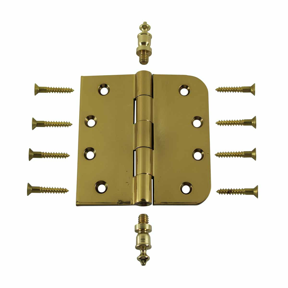 Bright Solid Brass Door Hinge 4 Urn Tip Door Hinges Door Hinge