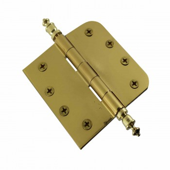 <PRE>Bright Solid Brass Door Hinge 4inch Urn Tip </PRE>zoom4