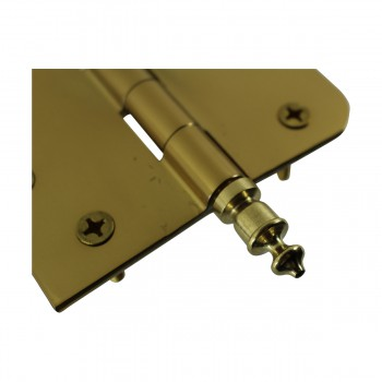 <PRE>Bright Solid Brass Door Hinge 4inch Urn Tip </PRE>zoom7