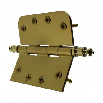 <PRE>Bright Solid Brass Door Hinge 4inch Urn Tip </PRE>zoom10