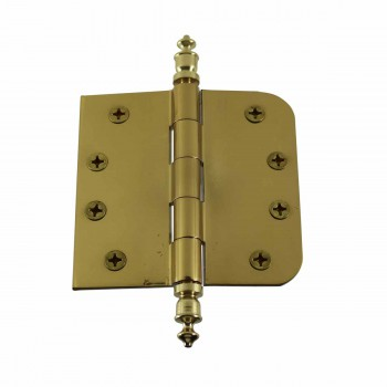 <PRE>Bright Solid Brass Door Hinge 4inch Urn Tip </PRE>zoom1