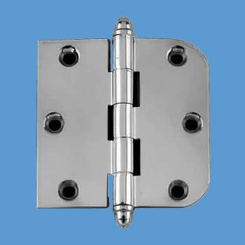 Door Hinges - 3in x 3in Combo Hinge (with  Helmet Finials) by the Renovator's Supply